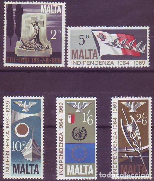 MALTA 395/9 INDEPENDENCIA (Sellos - Extranjero - Europa - Malta)