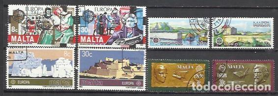 8160A-4 SERIES COMPLETAS MALTA SERIE EUROPA USADOS PERFECTO ESTADO.OFERTA (Sellos - Extranjero - Europa - Malta)