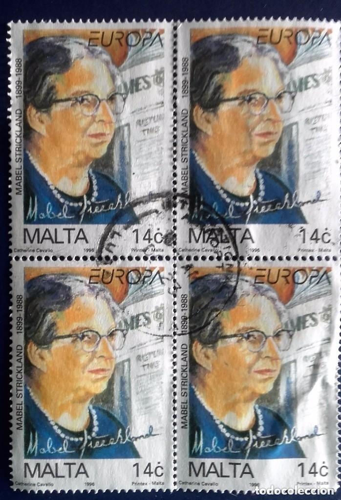 MALTA, USADOS, SELLOS EN BLOQUE DE 4 (Sellos - Extranjero - Europa - Malta)