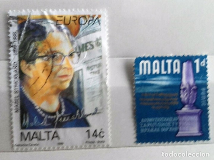 MALTA, 2 SELLOS USADOS (Sellos - Extranjero - Europa - Malta)
