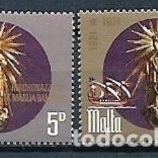 Sellos: MALTA,1971,CORONACIÓN DE LA VIRGEN DE LAS VICTORIAS,YVERT 429-430,NUEVOS,MNH**. Lote 180016735