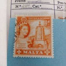 Sellos: SELLO CLASICO DE MALTA IVERT 240 USADO. Lote 180845016