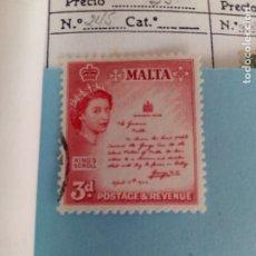 Sellos: SELLO CLASICO DE MALTA IVERT 245 USADO. Lote 180845352