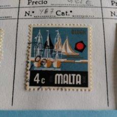Sellos: SELLO DE MALTA IVERT 467 USADO. Lote 180922875