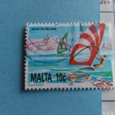 Sellos: SELLO DE MALTA IVERT 855 USADO. Lote 180924245