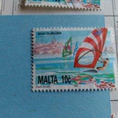 Sellos: SELLO DE MALTA IVERT 855 USADO. Lote 180924266