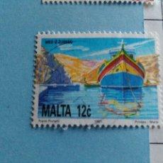 Sellos: SELLO DE MALTA IVERT 856 USADO. Lote 180924402