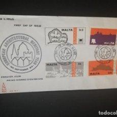 Sellos: SOBRE PRIMER DIA. EUROPA. MALTA. ARCHITECTURAL HERTAGE YEAR. 1975.. Lote 185930416