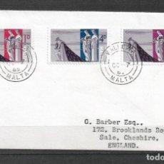 Sellos: MALTA 1965 SOBRE PRIMER DIA - 190. Lote 186201772