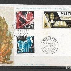 Sellos: MALTA 1967 SOBRE PRIMER DIA - 190. Lote 186201811