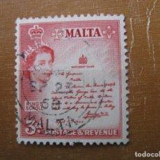 Sellos: MALTA 1956, YVERT 245. Lote 187375195