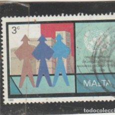 Sellos: MALTA 1989 - YVERT NRO. 801 - USADO - . Lote 195048123