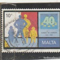 Sellos: MALTA 1989 - YVERT NRO. 803 - USADO - . Lote 195048181