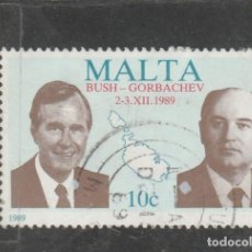 Sellos: MALTA 1989 . YVERT NRO. 809 - USADO. Lote 198370790