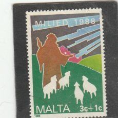Sellos: MALTA 1988 . YVERT NRO. 785 - USADO- DIENTE CORTO. Lote 198370985