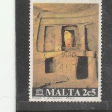 Sellos: MALTA 1980 . YVERT NRO. 598 - USADO- . Lote 198371976