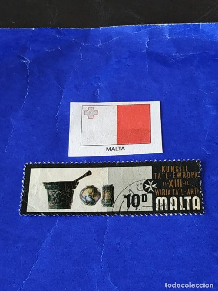 MALTA (E) - 1 SELLO CIRCULADO (Sellos - Extranjero - Europa - Malta)