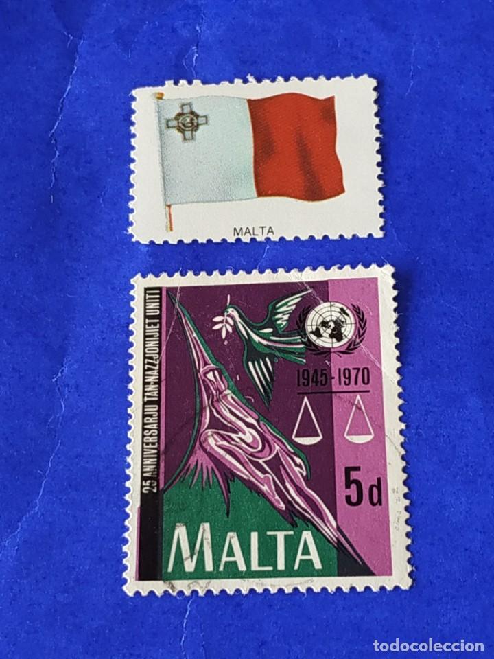 MALTA (F) - 1 SELLO CIRCULADO (Sellos - Extranjero - Europa - Malta)