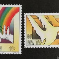 Sellos: MALTA, EUROPA CEPT 1995 MNH, PAZ Y LIBERTAD (FOTOGRAFÍA REAL). Lote 203377792
