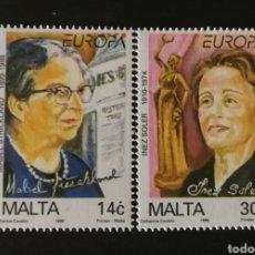Sellos: MALTA, EUROPA CEPT 1996, MUJERES CÉLEBRES (FOTOGRAFÍA REAL). Lote 203444427
