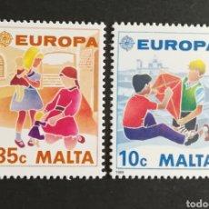 Sellos: MALTA, EUROPA CEPT 1989 MNG, JUEGOS INFANTILES (FOTOGRAFÍA REAL). Lote 204062600
