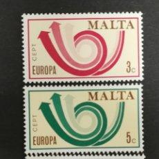 Sellos: MALTA, EUROPA CEPT 1973 MNH(FOTOGRAFÍA REAL). Lote 204119075