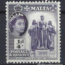 Timbres: MALTA 1956-57 - MONUMENTO AL GRAN ASEDIO DE 1565 - SELLO NUEVO **. Lote 205095578