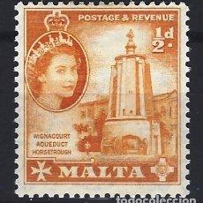 Timbres: MALTA 1956-57 - ABREVADERO DEL ACUEDUCTO DE WIGNACOURT - SELLO NUEVO C/F*. Lote 205095653