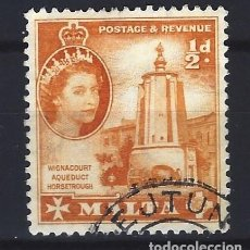 Selos: MALTA 1956-57 - ABREVADERO DEL ACUEDUCTO DE WIGNACOURT - SELLO USADO. Lote 205095695