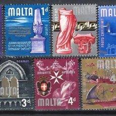 Timbres: MALTA 1965 - INDEPENDENCIA, S.COMPLETA - SELLOS USADOS. Lote 205098710