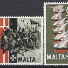 Timbres: MALTA 1965 - 4º CENTENARIO DEL GRAN ASEDIO, S.COMPLETA - SELLOS NUEVOS **. Lote 205100496