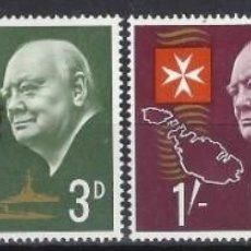 Timbres: MALTA 1966 - 1º ANIVERSARIO DE LA MUERTE DE SIR WINSTON CHURCHILL, S.COMPLETA - SELLOS NUEVOS **. Lote 205101290