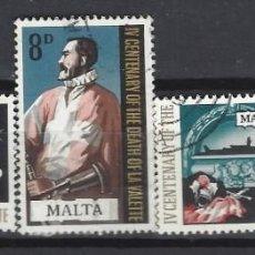 Timbres: MALTA 1968 - 4º CENTENARIO DE LA MUERTE DE JEAN DE LA VALETTE, S.COMPLETA - SELLOS USADOS. Lote 205104616