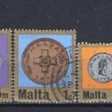 Timbres: MALTA 1972 - NUEVO SISTEMA MONETARIO, 7 VALORES - SELLOS USADOS. Lote 205108377