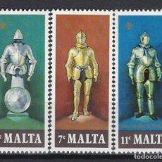Timbres: MALTA 1977 - ARMADURAS, S.COMPLETA - SELLOS NUEVOS **. Lote 205117395