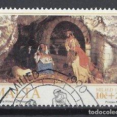 Francobolli: MALTA 1990 - NAVIDAD - SELLO USADO. Lote 205175546
