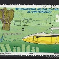 Timbres: MALTA 1994 - ANIVERSARIOS DE LA AVIACIÓN - SELLO USADO. Lote 205181516