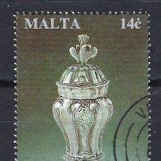 Timbres: MALTA 1994 - OBJETOS MALTESES DE PLATA, BALSAMINA - SELLO USADO. Lote 205181912