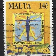 Francobolli: MALTA 1995 - 4ª CONFERENCIA INTERNACIONAL DE MUJERES - SELLO USADO. Lote 205182068