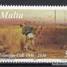 Francobolli: MALTA 1996 - PINTURA DE GUISEPPE CALI, TIEMPO DE COSECHA - SELLO USADO. Lote 205184732
