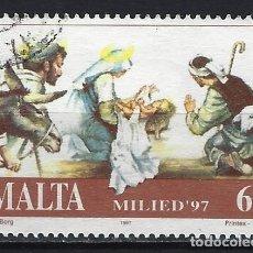 Sellos: MALTA 1997 - NAVIDAD - SELLO USADO. Lote 205185836