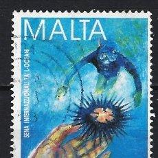 Sellos: MALTA 1998 - AÑO INTERNACIONAL DE LOS OCÉANOS - SELLO USADO. Lote 205186230