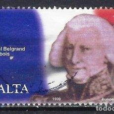 Sellos: MALTA 1998 - CLAUDE-HENRI BELGRAND DE VAUBOIS - SELLO USADO. Lote 205186835