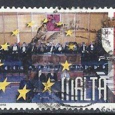 Sellos: MALTA 1999 - 25º ANIVERSARIO DE LA REPÚBLICA, ESCENA HISTÓRICA - SELLO USADO. Lote 205187026