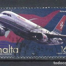 Sellos: MALTA 2000 - TRANSPORTE AÉREO, AIR MALTA AIRBUS A320 - SELLO USADO. Lote 205187221