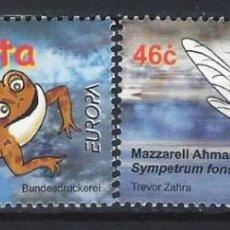 Sellos: MALTA 2001 - EUROPA, FAUNA, LA RIQUEZA DEL AGUA, S.COMPLETA - SELLOS NUEVOS **. Lote 205187345