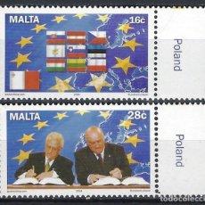 Sellos: MALTA 2004 - ENTRADA DE MALTA EN LA UNIÓN EUROPEA, S.COMPLETA - SELLOS NUEVOS **. Lote 205187855