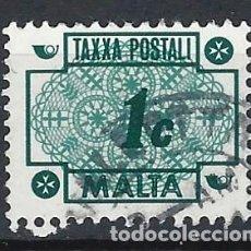 Sellos: MALTA 1972 - TAXA, ENCAJE MALTÉS - SELLO USADO. Lote 205188105