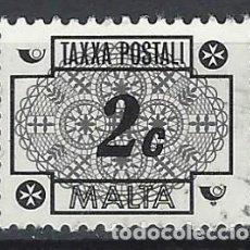 Sellos: MALTA 1972 - TAXA, ENCAJE MALTÉS - SELLO USADO. Lote 205188152