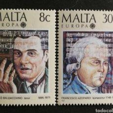 Sellos: MALTA, EUROPA CEPT 1985 MNH (FOTOGRAFÍA REAL). Lote 216605328